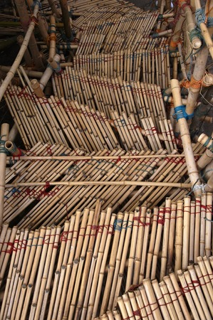 exceptionally: Built steps from bamboo and ropes