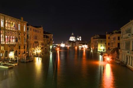 rialto: Venice at night from the Rialto Bridge
