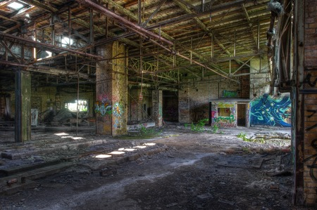 abandoned warehouse: Warehouse in an old abandoned brewery