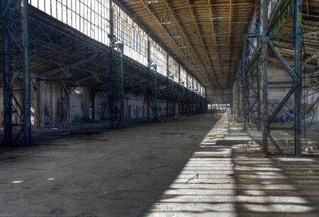 abandoned warehouse: Big long and abandoned warehouse