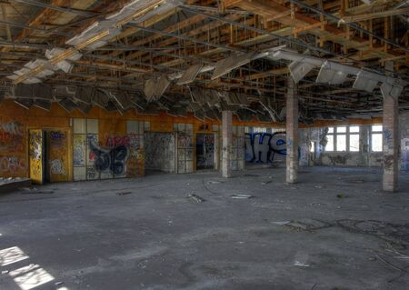 great hall: Great Hall in an abandoned old factory
