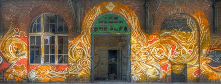 Great graffiti with flames