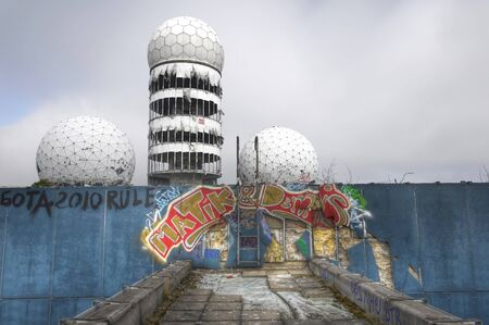 Spiers of the old NSA listening station on Teufelsberg Editorial