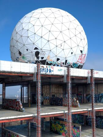 bugging: Old abandoned NSA listening station on Teufelsberg in Berlin