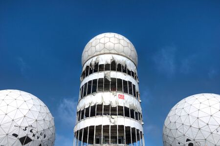bugging: Dome of the old NSA listening station on Teufelsberg in Berlin Editorial
