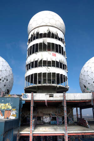 Abandoned monitoring system of the USA on the Teufelsberg in Berlin Editorial