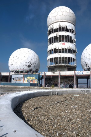 Dome of the monitoring station on the Teufelsberg in Berlin Editorial