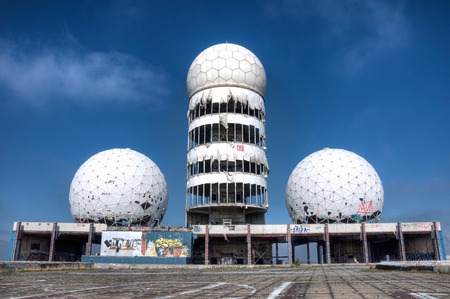 Abandoned monitoring system on the Teufelsberg in Berlin