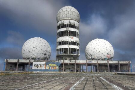 bugging: Abandoned NSA listening station on Teufelsberg in Berlin Editorial