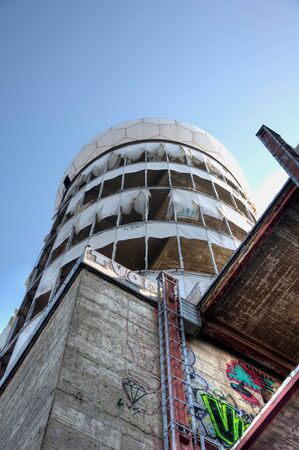 View of the tower of the old monitoring station on the Teufelsberg Editorial