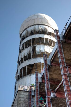 bugging: View of the tower of the old monitoring station on the Teufelsberg Editorial