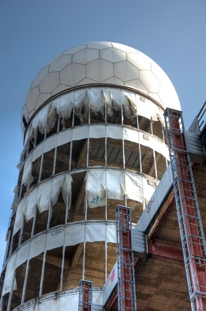 bugging: Tower of the old monitoring station on the Teufelsberg in Berlin