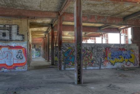 In an old abandoned monitoring station on the Teufelsberg