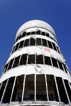 Tower of the old monitoring system on the Teufelsberg in Berlin