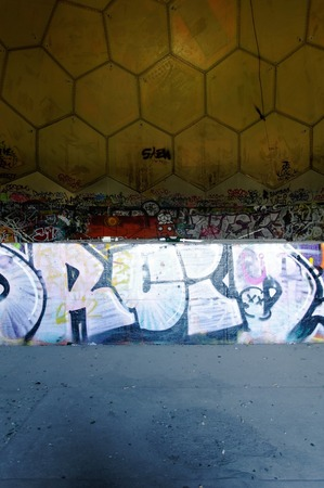 In the tower of the old listening station of the NSA on the Teufelsberg