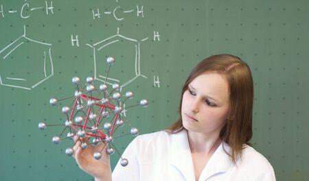 女子短大生の分子モデルを探しています 写真素材