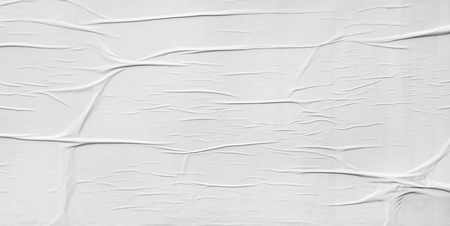 Blank poster, crumpled paper texture
