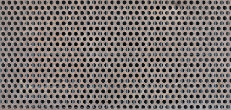grille: Old rusty metal grille Stock Photo