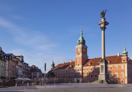 Royal Castle and Sigismunds Column in Warsaw