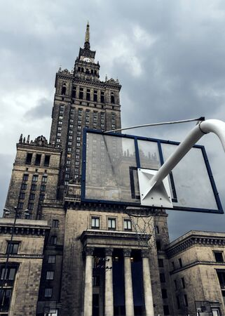 Low angle shot of Palace of Culture and Science in Warsaw