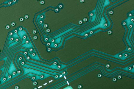 Close up photos of electronic circuit board