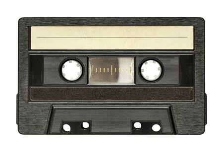 Black audio cassette isolated on white background 版權商用圖片 - 134331906