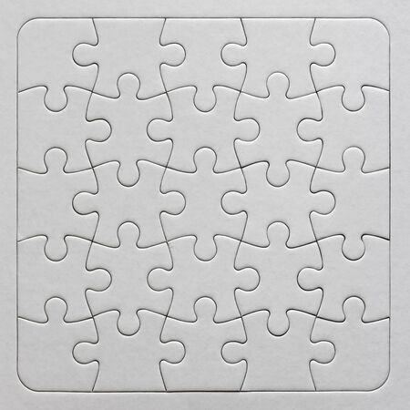 Close up on blank, white jigsaw puzzle texture 版權商用圖片 - 138394874