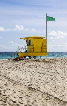 Lifeguard tower in Fuerteventura near Corralejo, Canary Islands 版權商用圖片