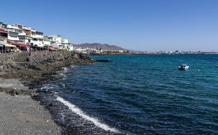 Coast of Lanzarote in the tourist town of Playa Blanca Stock fotó
