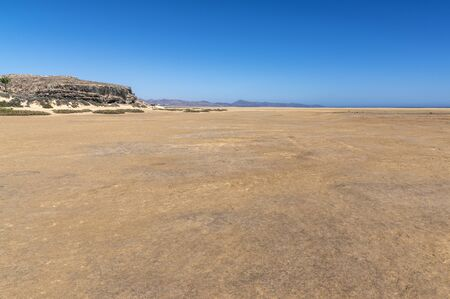 Very wide beach in Jandia south of Fuerteventura Island, Canary Islands 版權商用圖片