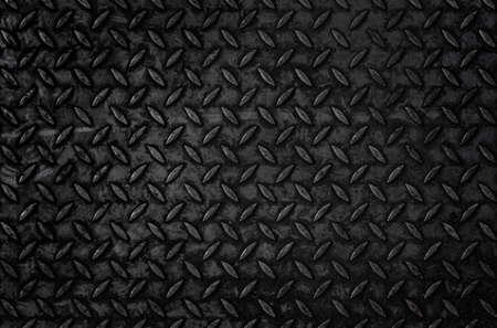 Black corrugated steel plate texture