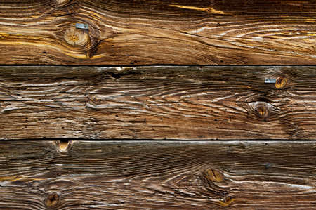 Old, rough, wooden, brown wall texture