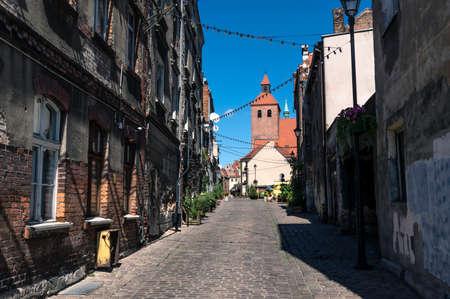 Narrow street in GrudziÄ…dz old town