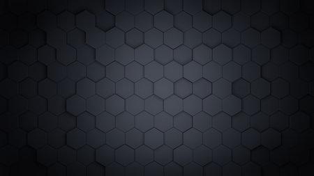 Abstract hexagonal background. 3d rendering