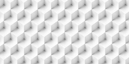 Stacked white cubes abstract background