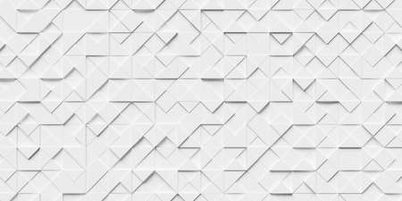 Abstract white background made of triangles. 3d rendering