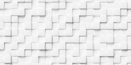 Abstract white background made of stacked cubes. 3d rendering