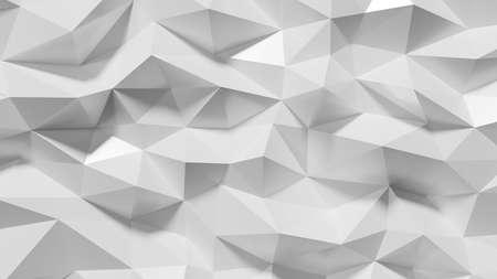 3d rendering of abstract geometric triangular white background 版權商用圖片