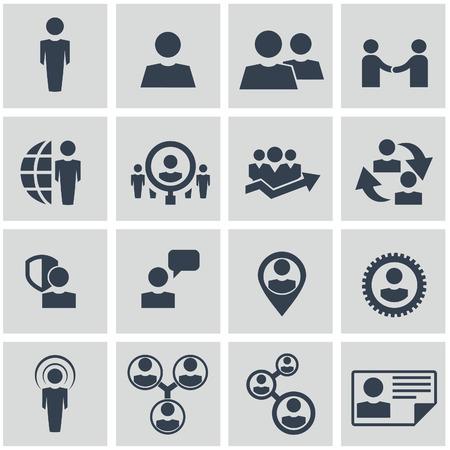 Vector - Business-iconen, management en human resources set