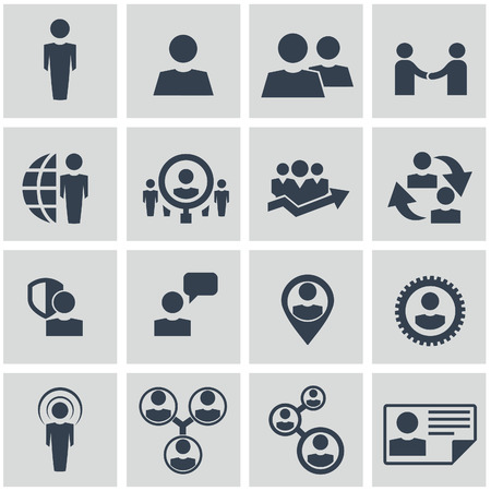 Vector - Business icons, management and human resources set