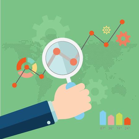 Flat vectFlat vector illustration of web analytics information and development website statistic - vector illustration or illustration of web analytics information and development website statistic - vector illustration