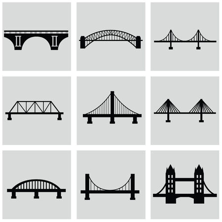 Vector isolVector isolated bridges big icons set ated bridges big icons set 矢量图像