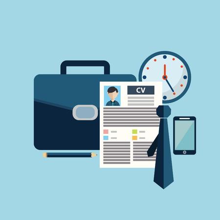 人材管理、専門スタッフ、ヘッド ハンターの仕事、雇用問題を発見・分析担当者 resume.infographics のベクトル図の概念