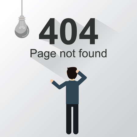 Page not found Error 404, power out Иллюстрация