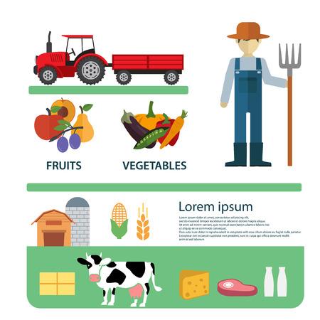 Organic Clean Foods Good Template Gezondheid Ontwerp Infographic.