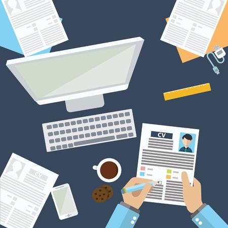 Job interview concept with business cv resume. Zdjęcie Seryjne - 37863666