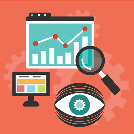 Website analytics en SEO data analyse concept