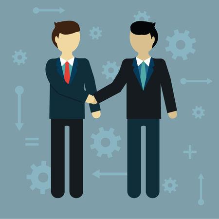 promise: Flat modern design of Businessman shaking hands. Illustration