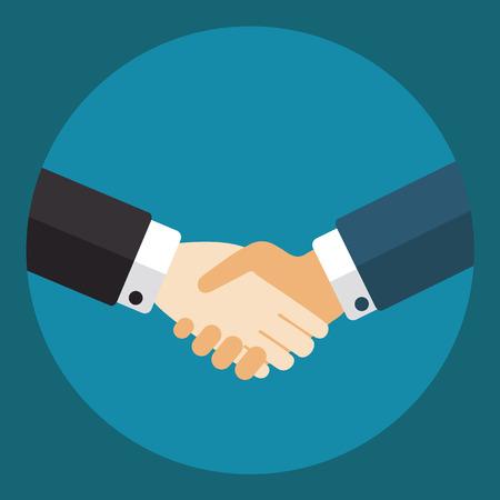 official symbol: Handshake businessmen making a deal.