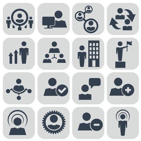 corporate hierarchy: Le risorse umane e le icone di gestione impostate